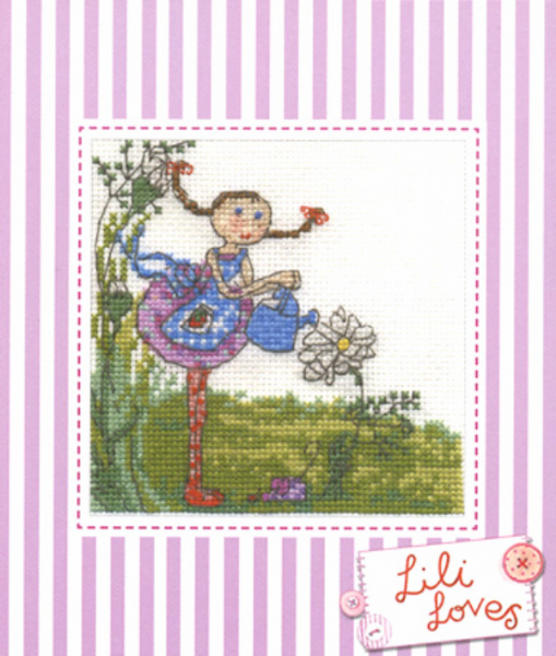 Lili Loves Gardening Cross Stitch Kit